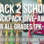 Back 2 School Backpack Give-away and Fun Festival